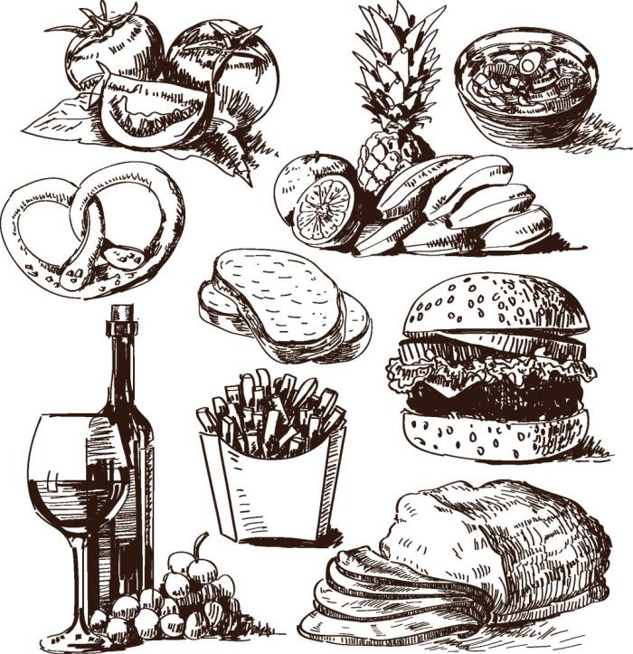 手绘食物素材 - 搜素材