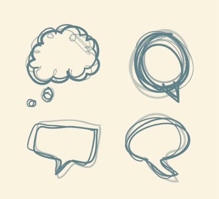 手绘对话框 -搜素材
