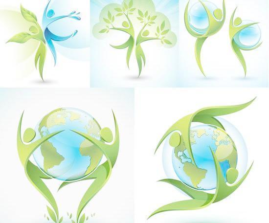 保护地球环境宣传海报矢量素材