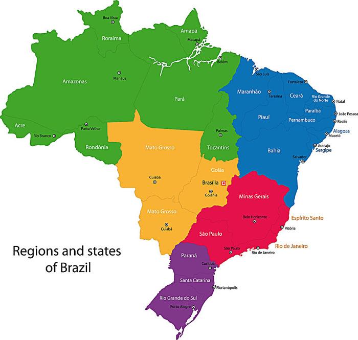 巴西地理图