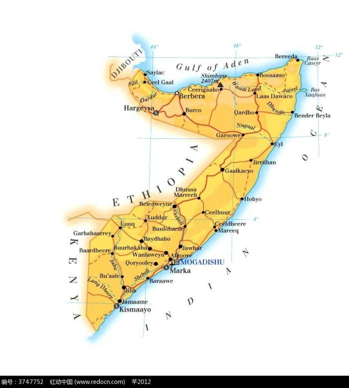 索马里地理图