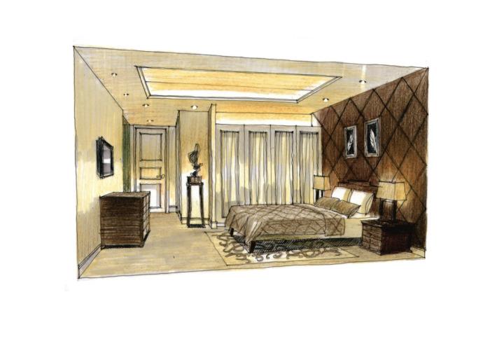 卧室设计手绘图片素材