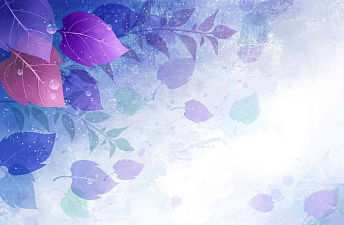 色 树叶渐变 海报背景图片 搜素材 站酷 ZC