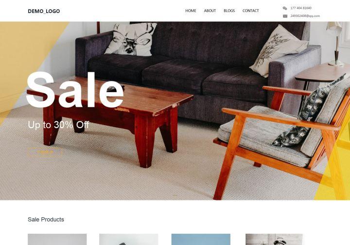 在线商品作品展示企业营销定制网站