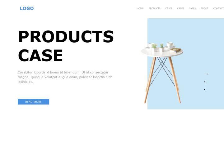 产品案例展示、服务类企业官网